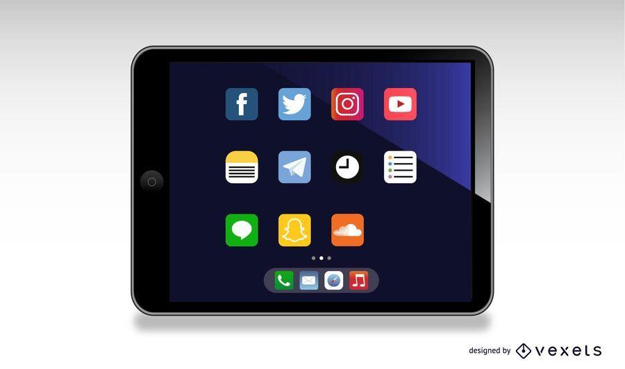 Ipad tablet illustration