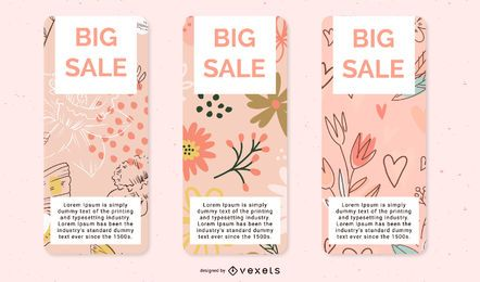 Beautiful Boxes Label Vector