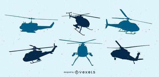 Pacote de vetores de helicóptero