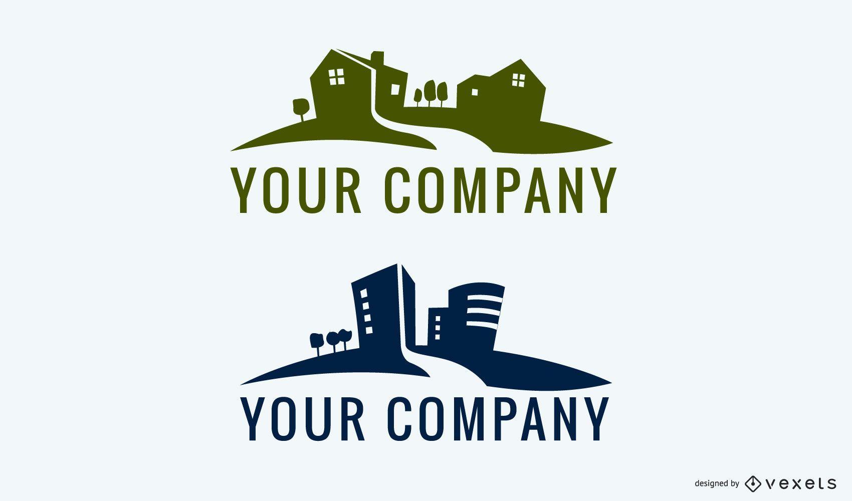 Logotipo de bienes raíces 02
