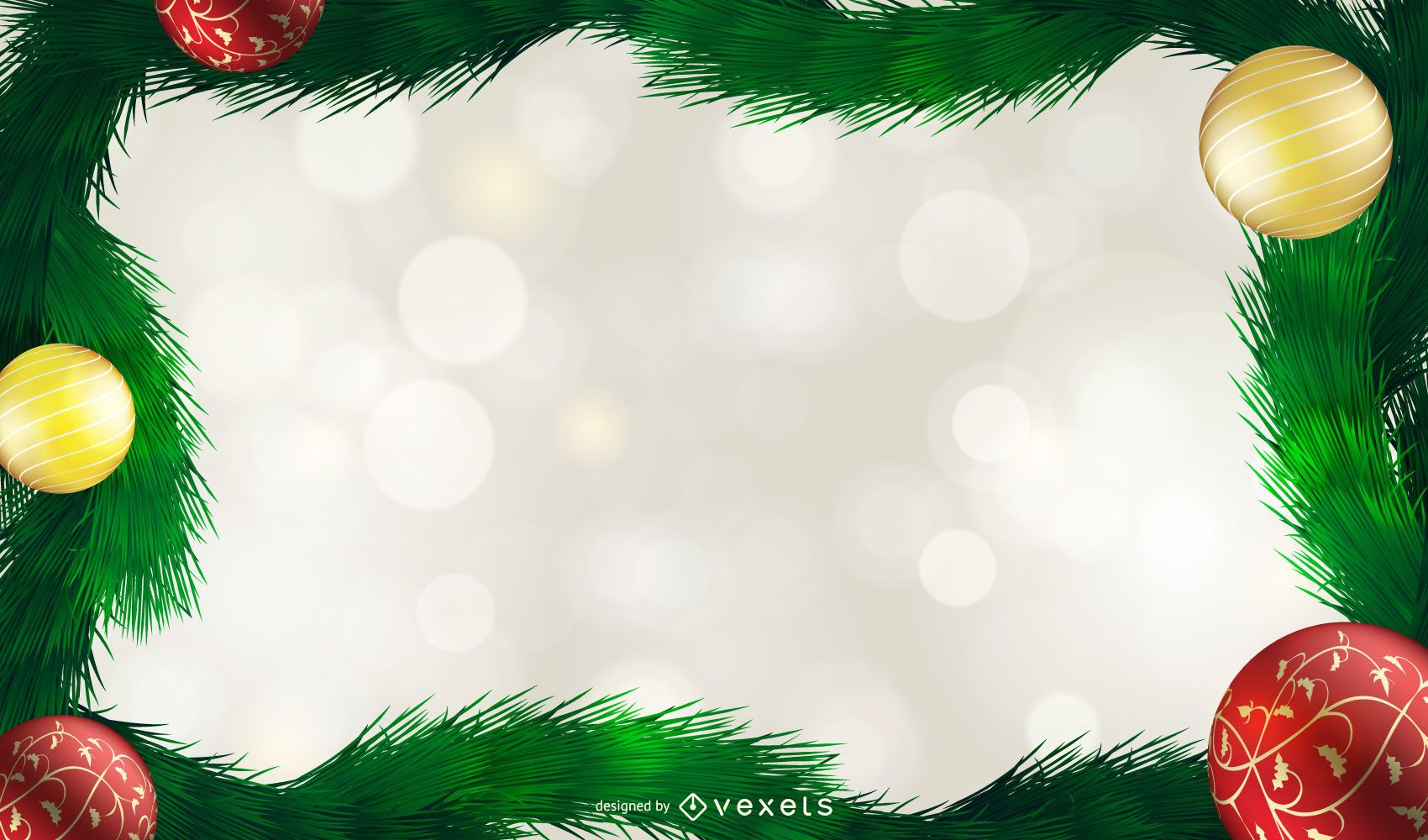 Christmas ornaments Background design