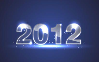 Fundo azul de ano novo