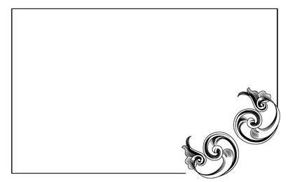 Cartão de decoração de canto de vetor