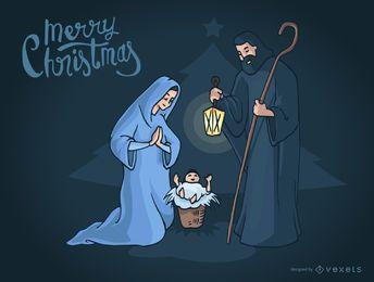 Cena da Natividade de Natal