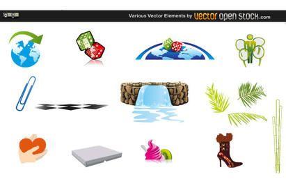 Varios elementos vectoriales