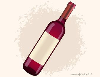Rotweinflasche Vektor