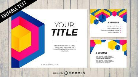 Paquete de diseño de Powerpoint empresarial