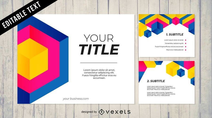 Business Powerpoint Templates Pack Vector Download