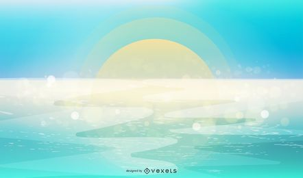 Fondo azul del mar