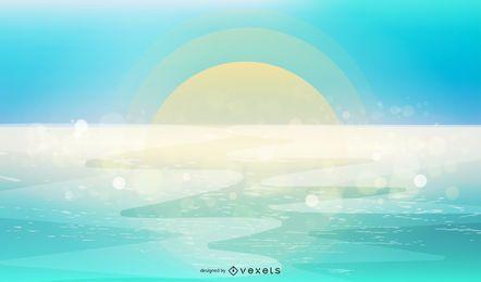 Fundo do oceano azul