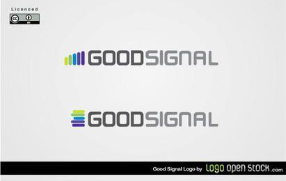 Vector de logotipo de buena señal