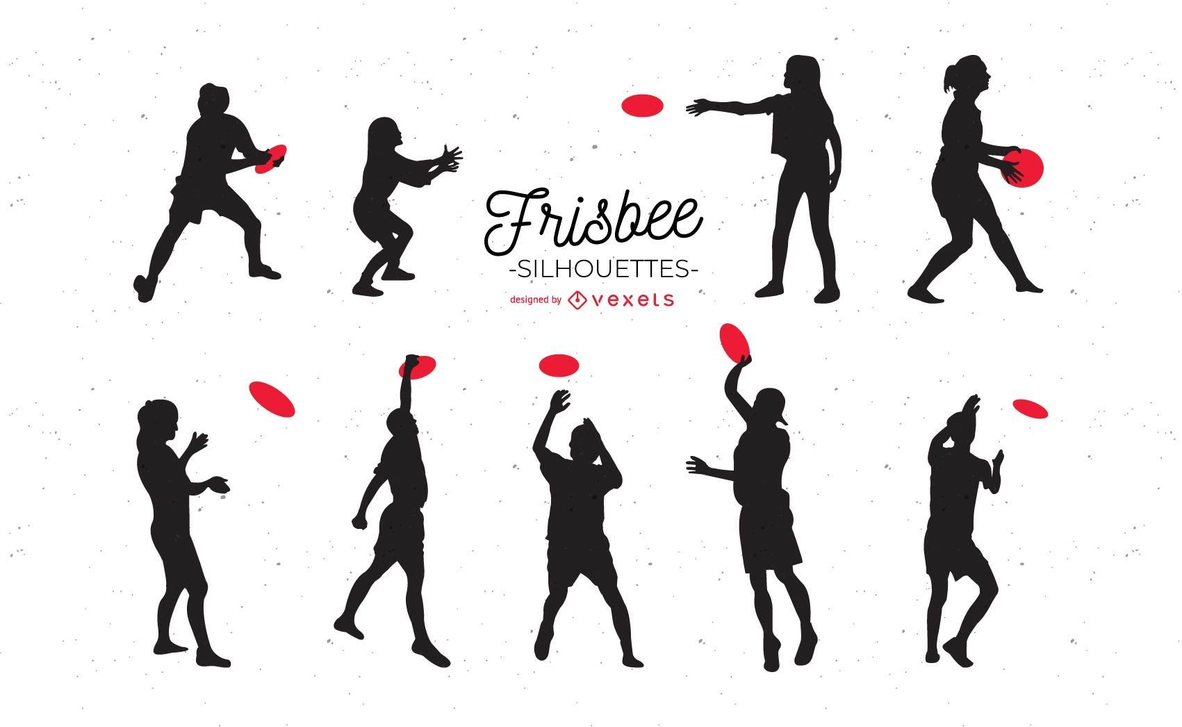 Frisbee Silhouettes Set