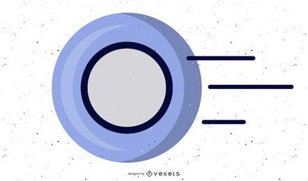 Diseño de disco de frisbee gratis