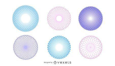Vector de esferas poligonales