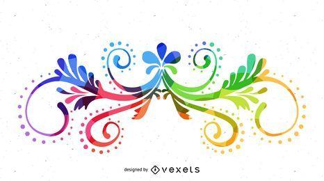 Gráfico de arte vetorial colorida