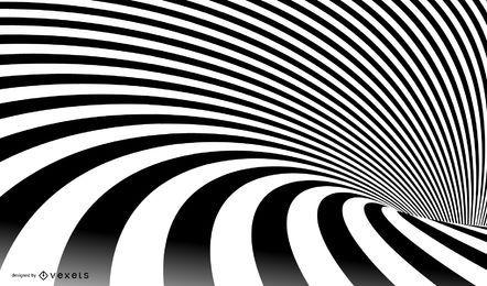 Vetor listrado espiral abstrata