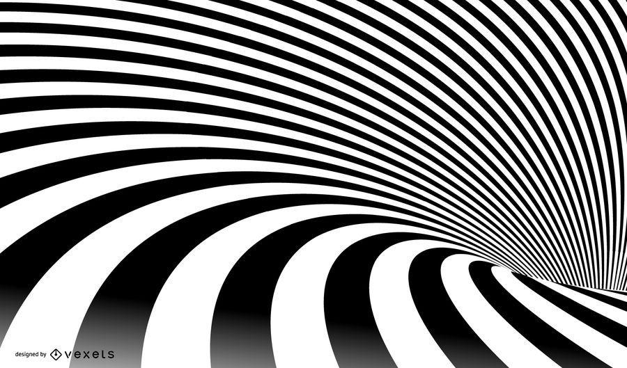 Vector de rayas espiral abstracto
