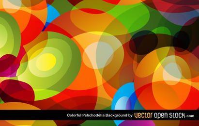 Fundo colorido de psicodelia