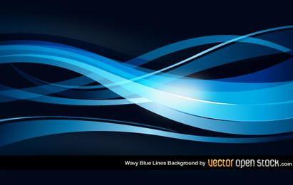 Ondulado azul alinea el fondo