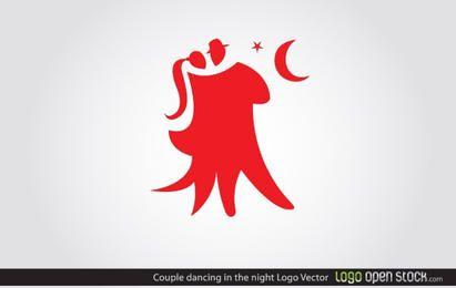 Logotipo de pareja de baile