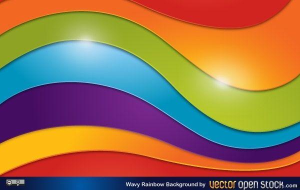 Fondo ondulado del arco iris