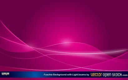 Fundo Fucshia com feixes de luz