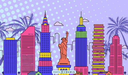 Awesome Free Vector Pop Art Style Background