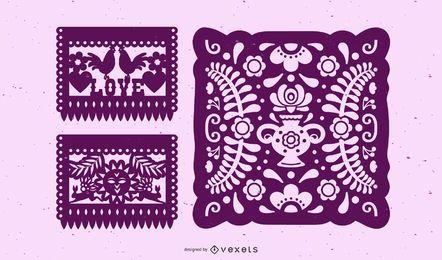 Folk Paper-Cuts Vectors