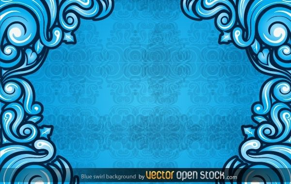Blue Swirl Background