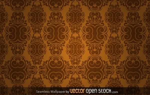 Seamless Wallpaper in Sepia-Tönen