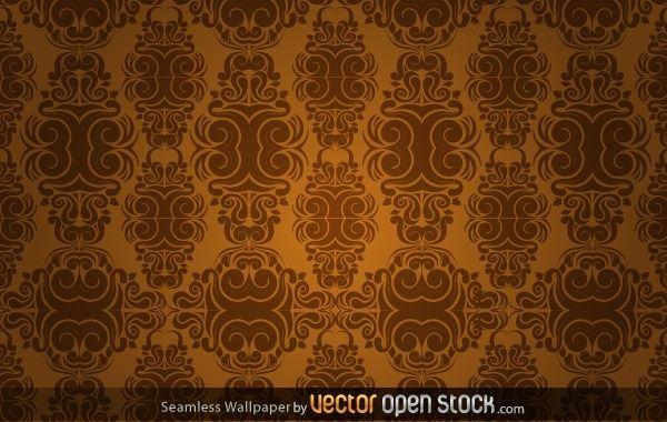 Seamless Wallpaper in sepia tones