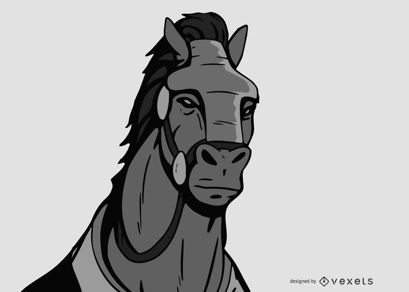 Vector de tecnología de caballo