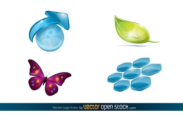 Iconos del logotipo del vector