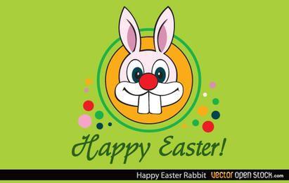 Feliz coelho de páscoa