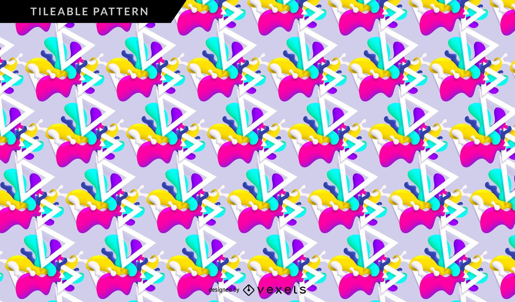 Vivid abstract pattern
