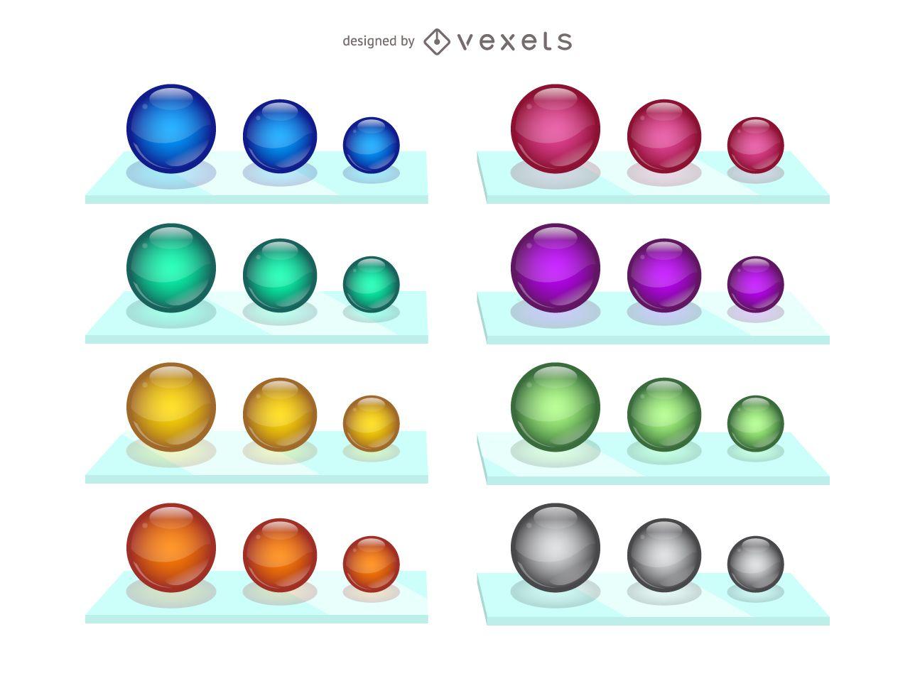 Vector de coloridos mármoles