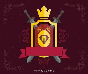 Escudo heráldico de vetor