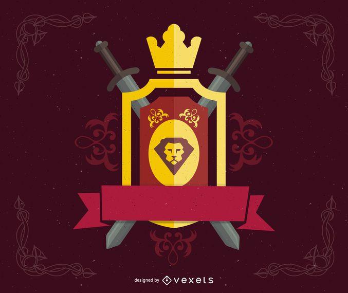 Vektor-heraldisches Schild