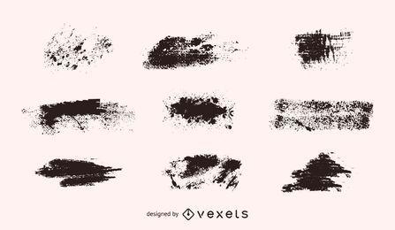 Conjunto de formas vectoriales grunge