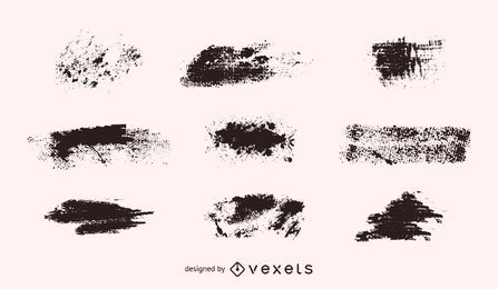 Vektor-Grunge-Formen-Set