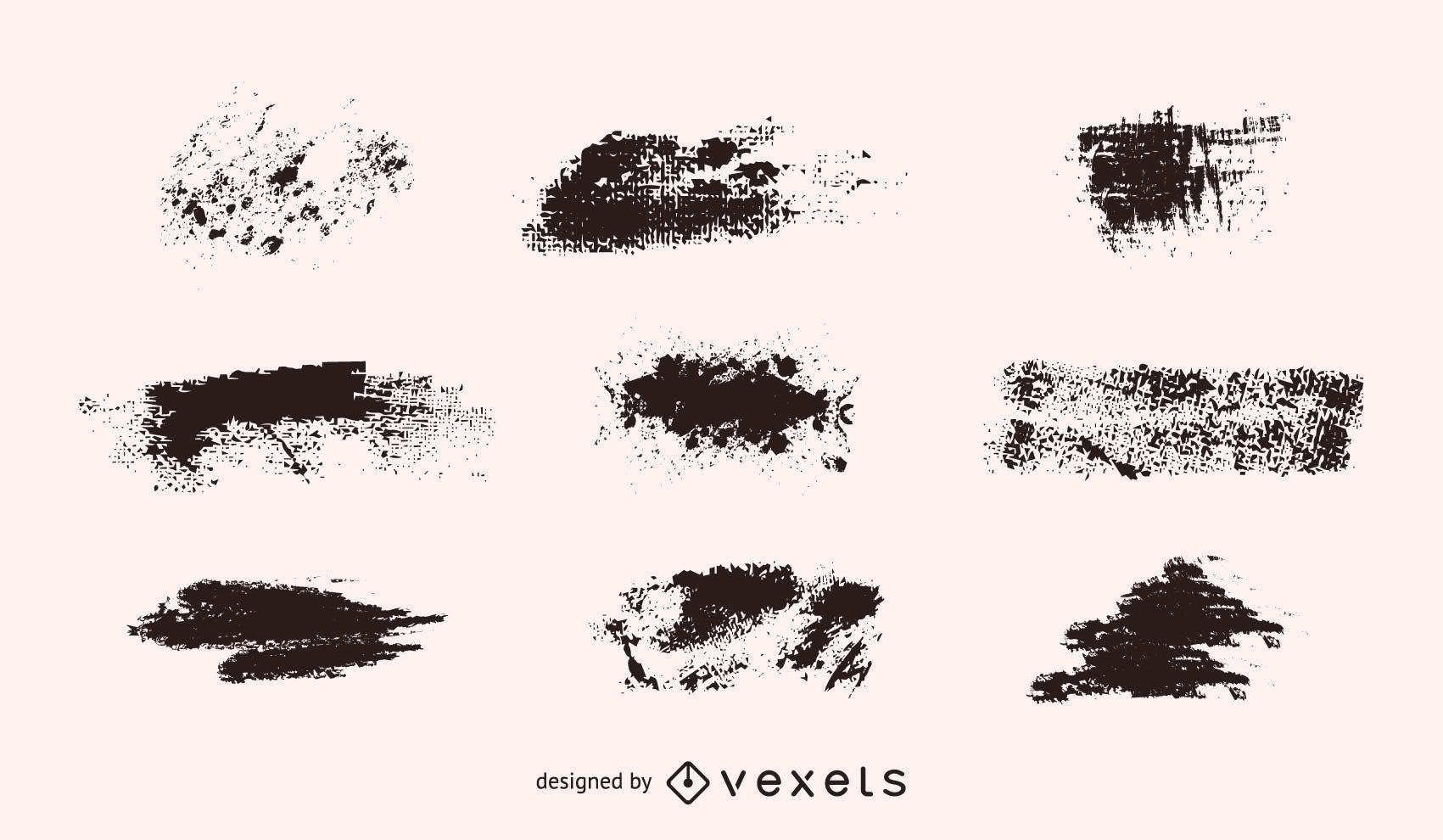 Vector Grunge Shapes Set