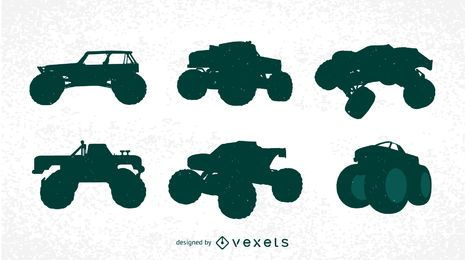 Kostenlose Bigfoot Cars Silhouettes