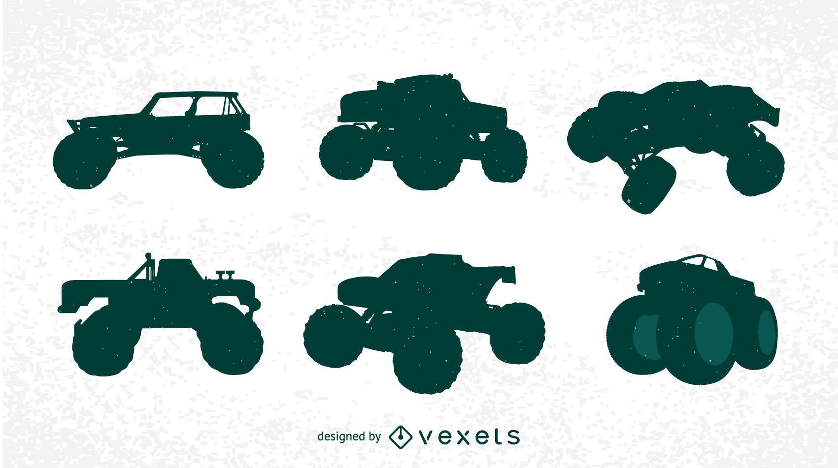 Free Bigfoot Cars Silhouettes