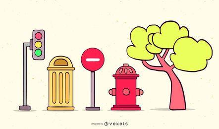 Vector de plantilla pintada a mano de dibujos animados gratis
