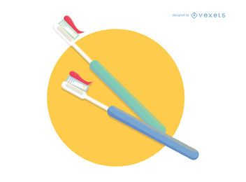 Vetor de escova de dentes