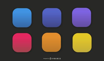App Vector Icons Background Set