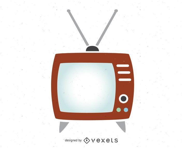 TV de vetor livre do vintage