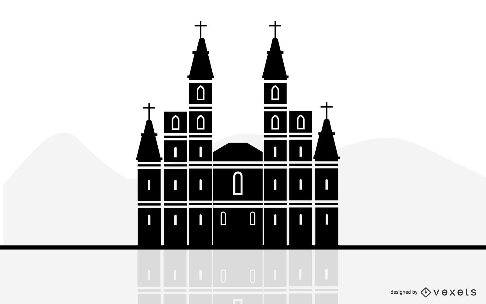 Vector iglesia cristiana