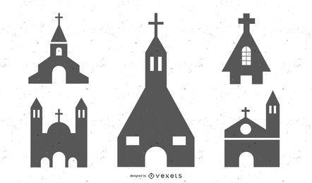 Siluetas iglesia católica