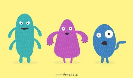 Pequeños monstruos divertidos